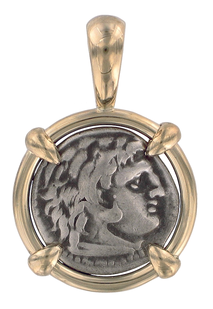 Greek coin pendants ancient creations alexander the great coin pendant mozeypictures Images