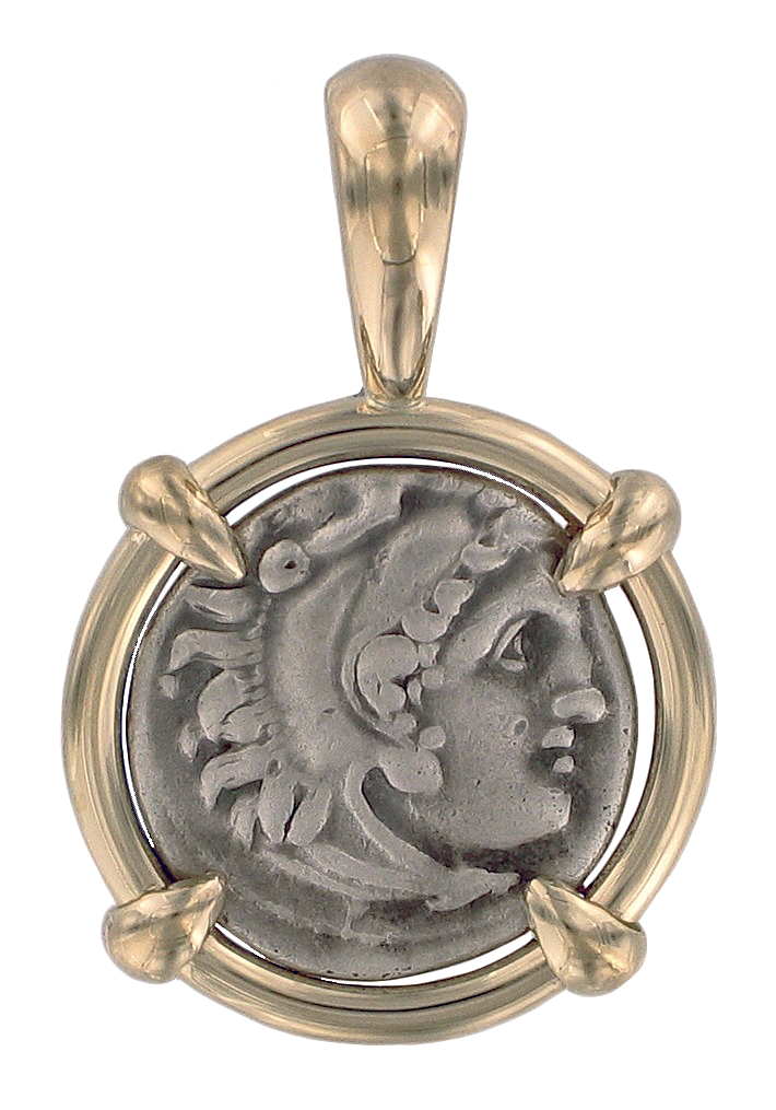 Greek coin pendants ancient creations alexander the great coin pendant mozeypictures Choice Image