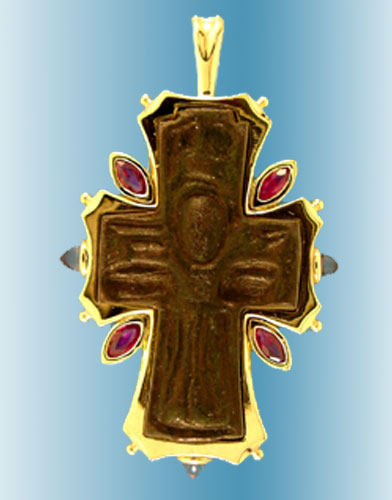 Bronze cross coin pendant ancient creations bronze cross coin pendant mozeypictures Images