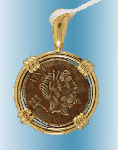 Poseidon coin pendant ancient creations aloadofball Choice Image