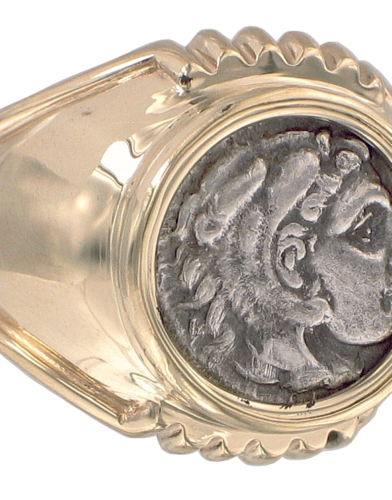 Greek Coin Rings