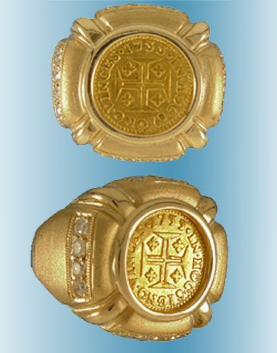 Portuguese Empire Coin Ring
