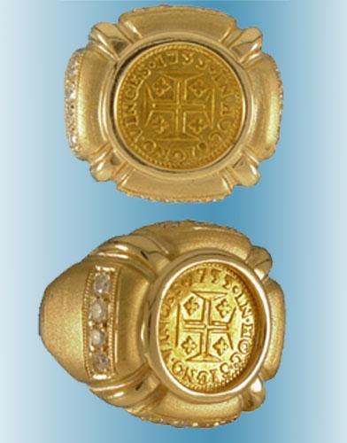 Portuguese Empire Coin Ring