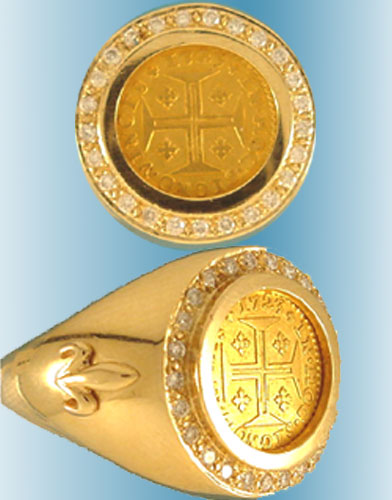 Spanish and Portuguese Coin Rings
