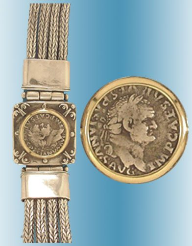 Vespasian Coin Bracelet