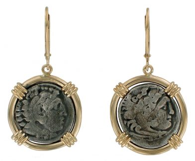 Alexander the Great Coin Earrings