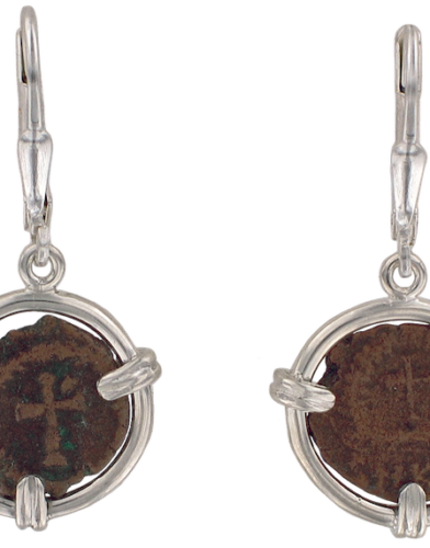 Theodosius II Coin Earrings
