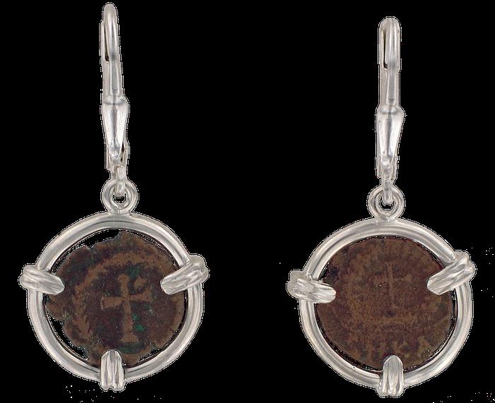 Theodosius II Coin Earrings