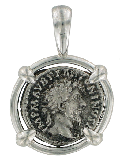 marcus aurelius coin pendant