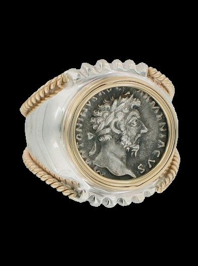 marcus aurelius coin ring